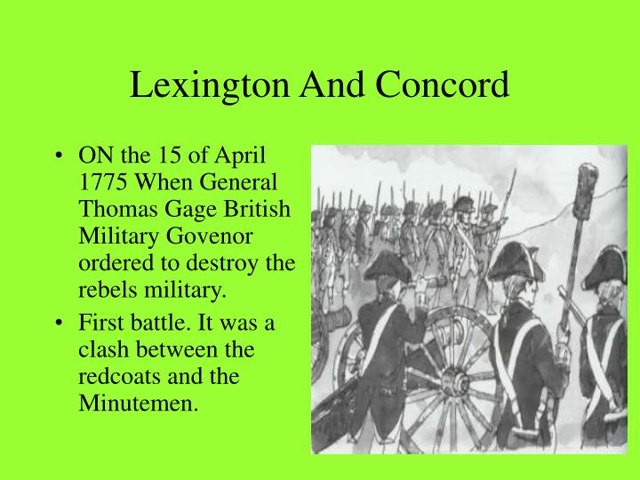 2 05 lexington and concord essay The road to lexington and concord statue of captain john parker in lexington, massachusetts proclamation of 1763 the tensions between britain and the colonies led to armed conflict in massachusetts americans at times still find themselves called upon to fight for their principles militia minuteman.