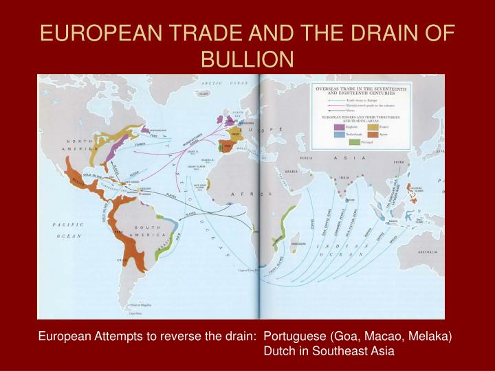 European trade and the drain of bullion