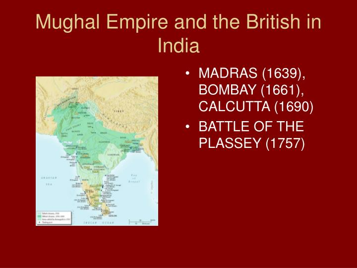 Mughal Empire and the British in India