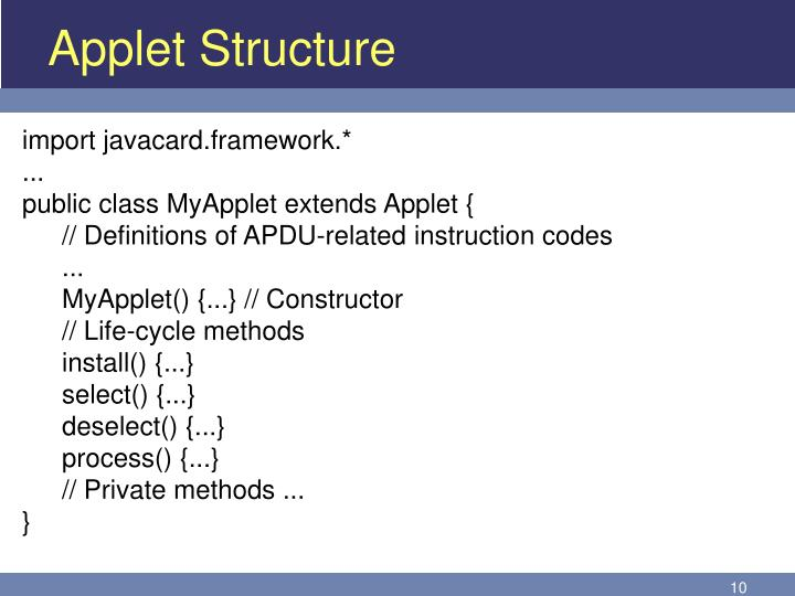 Applet Structure