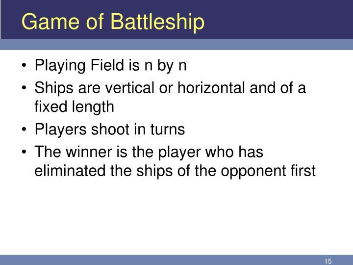 Game of Battleship