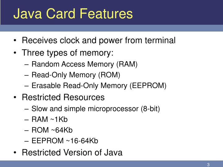 Java Card Features