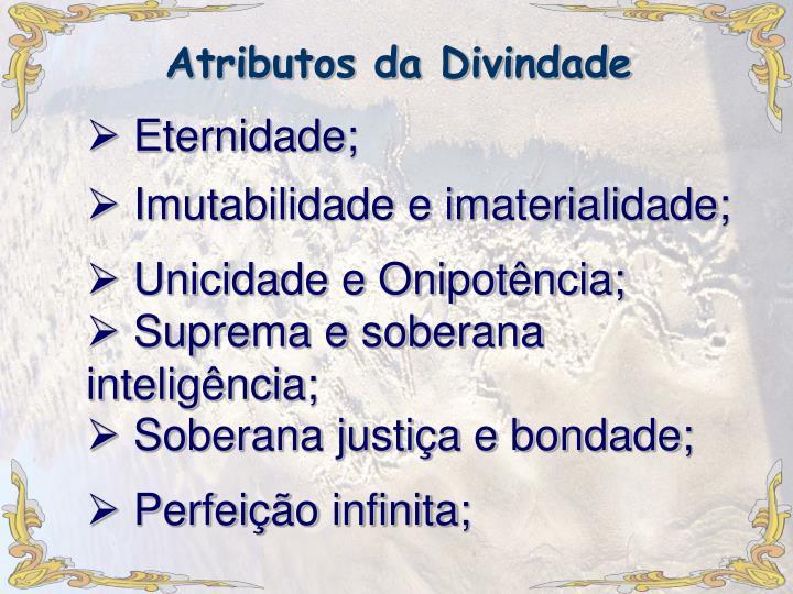 Atributos da Divindade