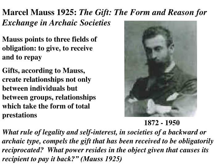 Marcel Mauss 1925: