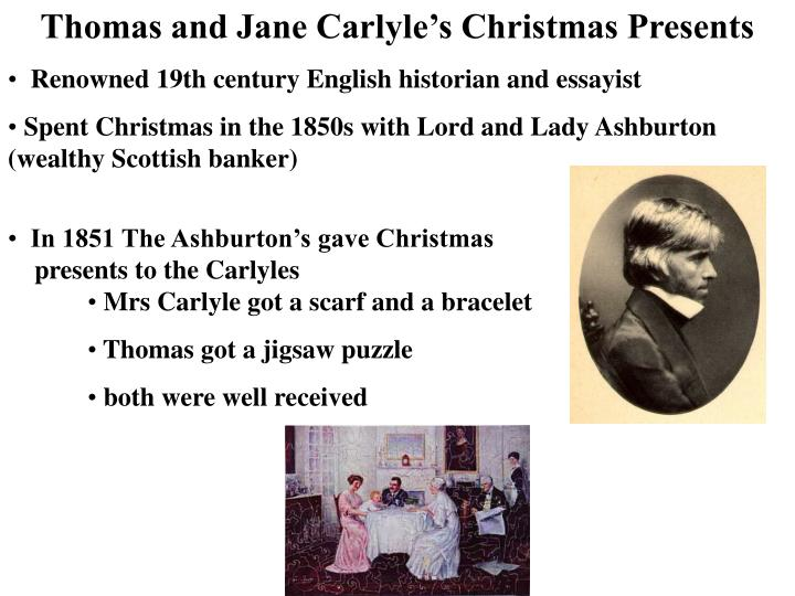 Thomas and Jane Carlyle's Christmas Presents