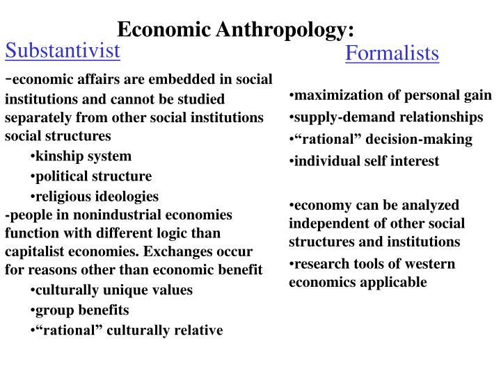 Economic Anthropology: