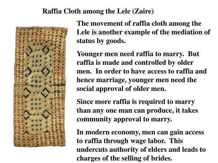 Raffia Cloth among the Lele (Zaire)