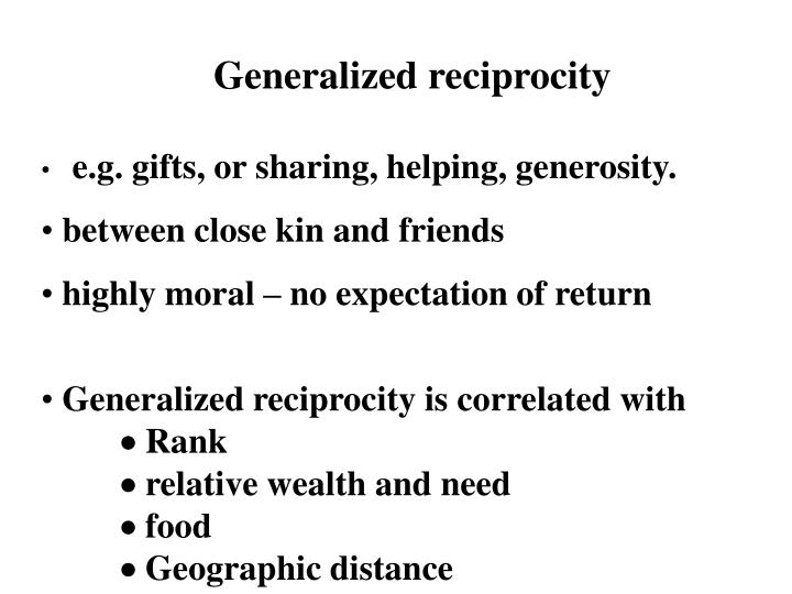 Generalized reciprocity