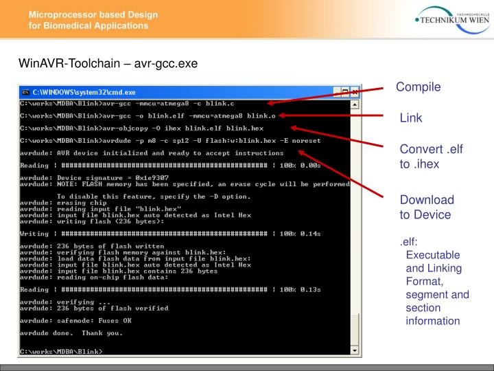 WinAVR-Toolchain – avr-gcc.exe