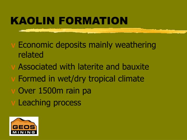 KAOLIN FORMATION