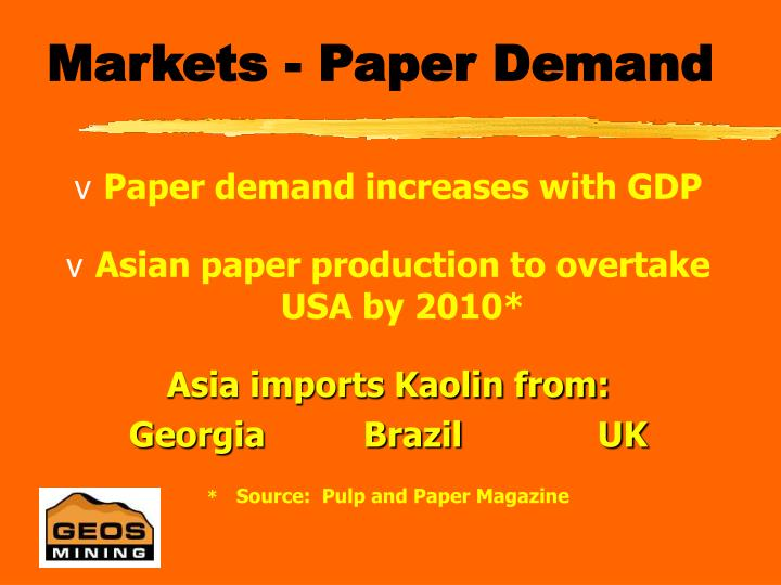 Markets - Paper Demand