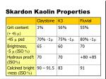 skardon kaolin properties