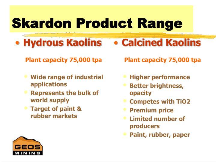 Hydrous Kaolins