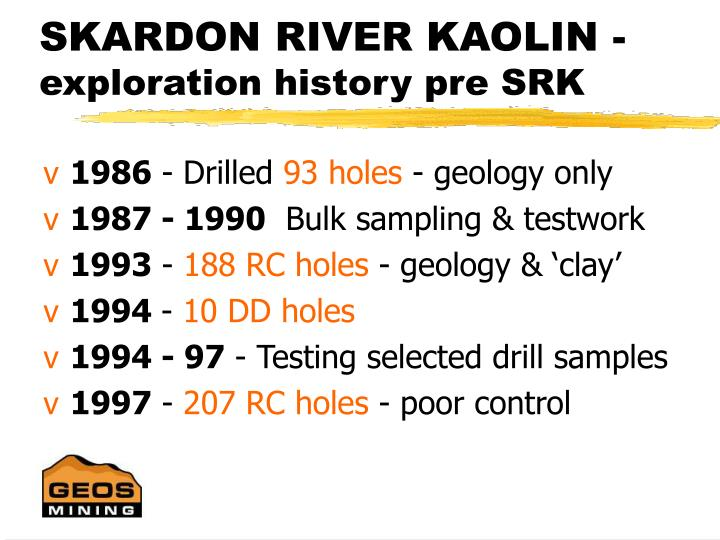 SKARDON RIVER KAOLIN -