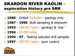 skardon river kaolin exploration history pre srk