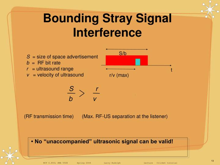 Bounding Stray Signal Interference