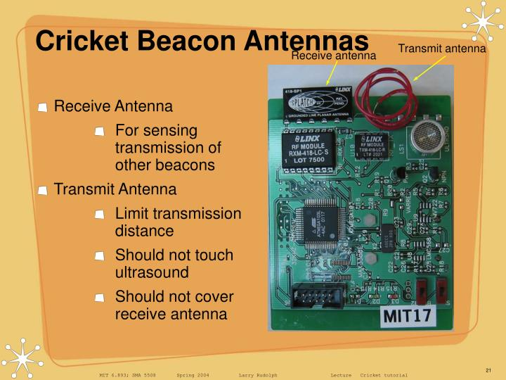Cricket Beacon Antennas