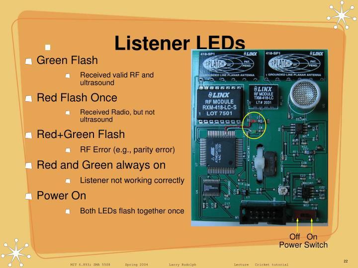 Listener LEDs