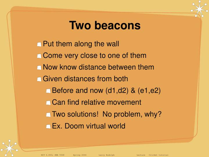 Two beacons