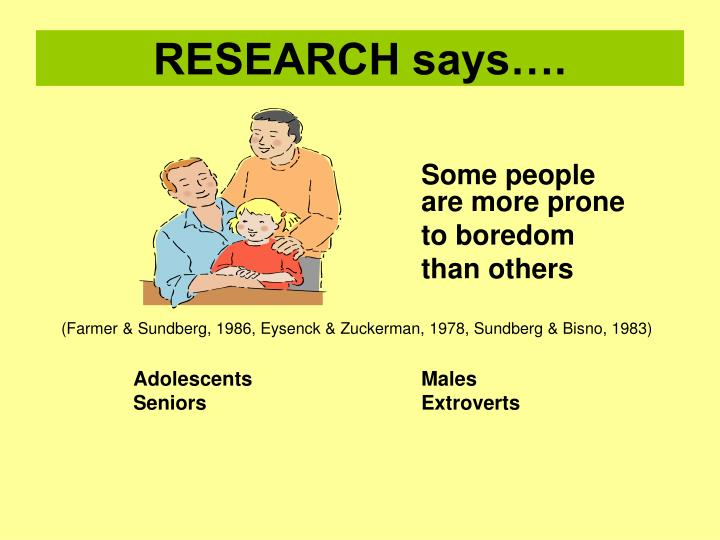 RESEARCH says….