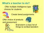 what s a teacher to do1