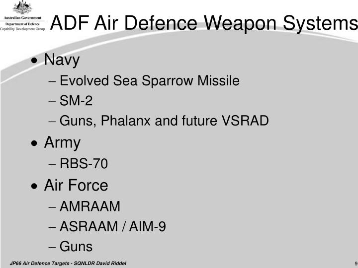 ADF Air Defence Weapon Systems