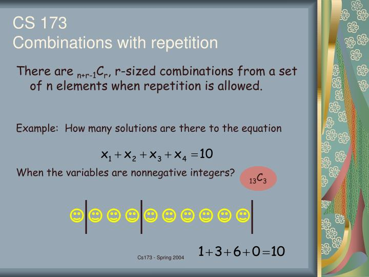 Example:  How many solutions are there to the equation