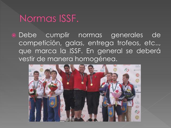Normas ISSF.