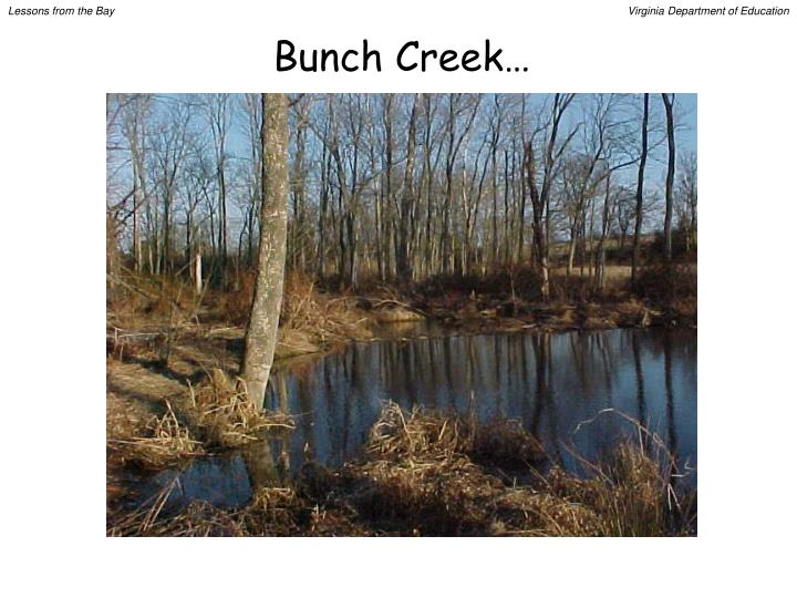Bunch Creek…