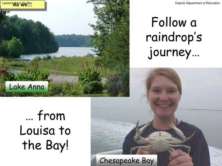 Follow a raindrop s journey