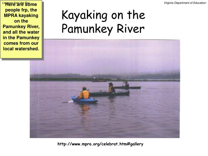 Kayaking on the Pamunkey River