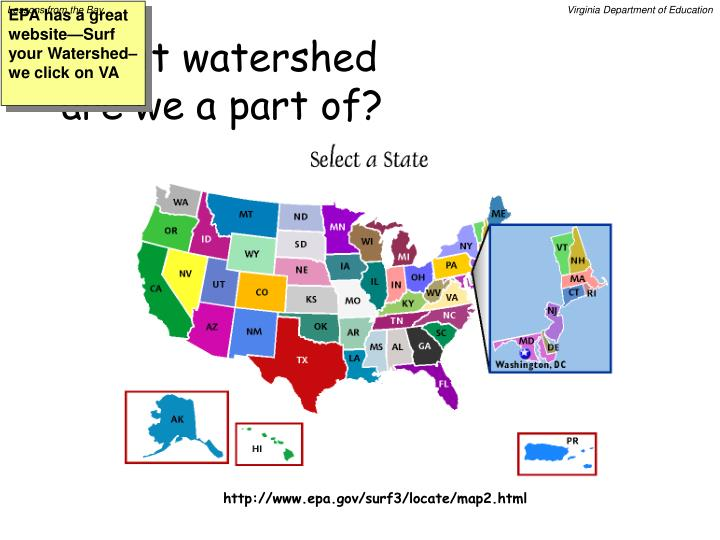 What watershed are we a part of?