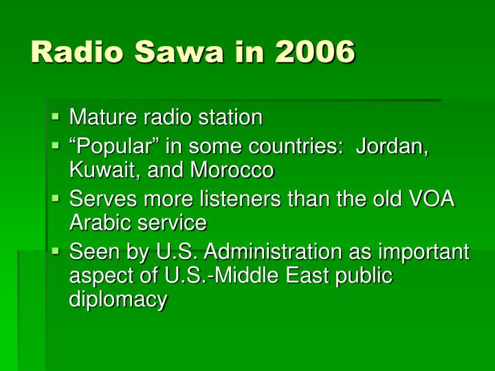 Radio Sawa in 2006