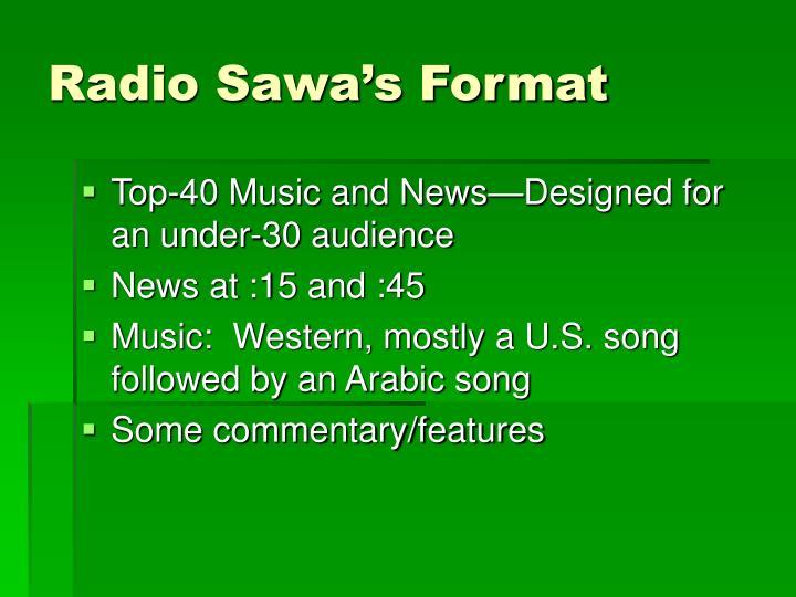 Radio Sawa's Format
