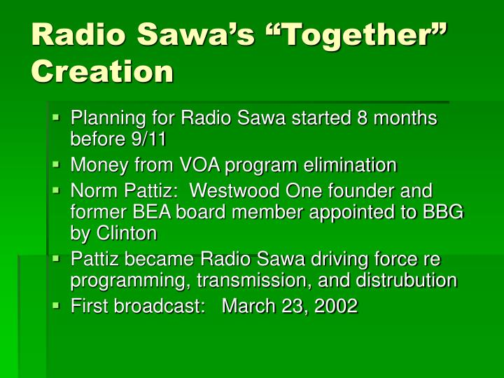 Radio sawa s together creation