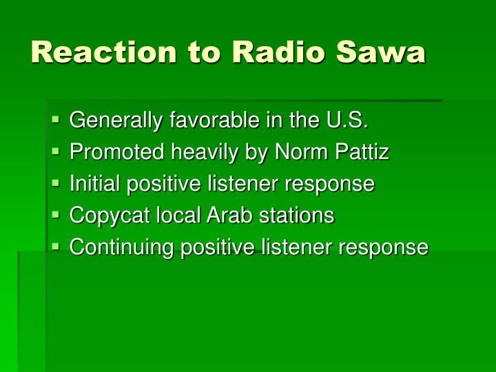 Reaction to Radio Sawa