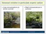 seasonal variation in particulate organic carbon