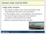 stream order and the rcc2