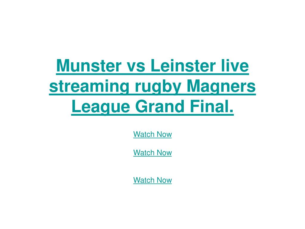 Munster vs Leinster live streaming rugby Magners League Grand Final.