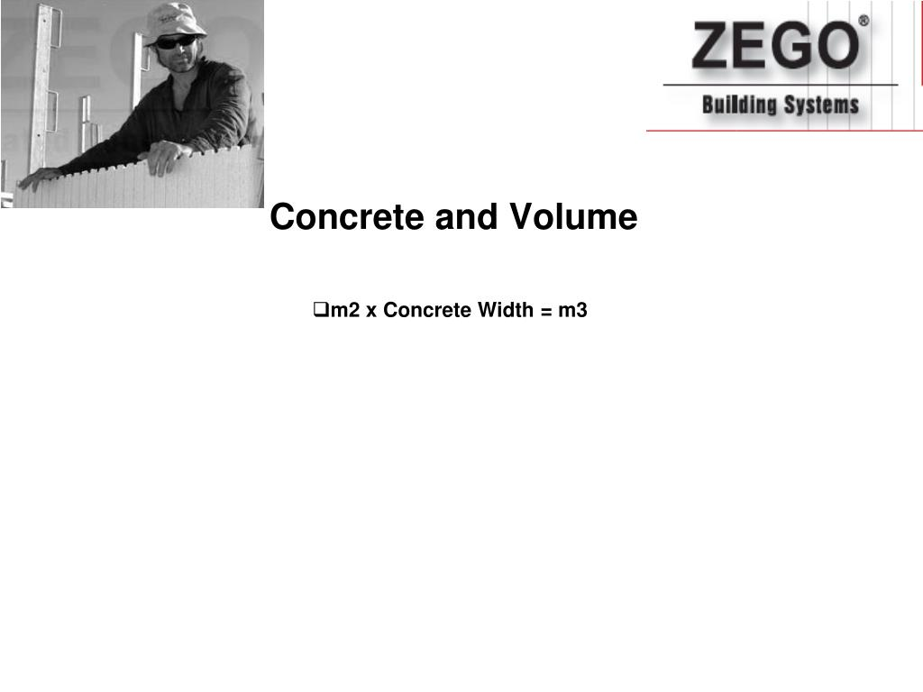 Concrete and Volume