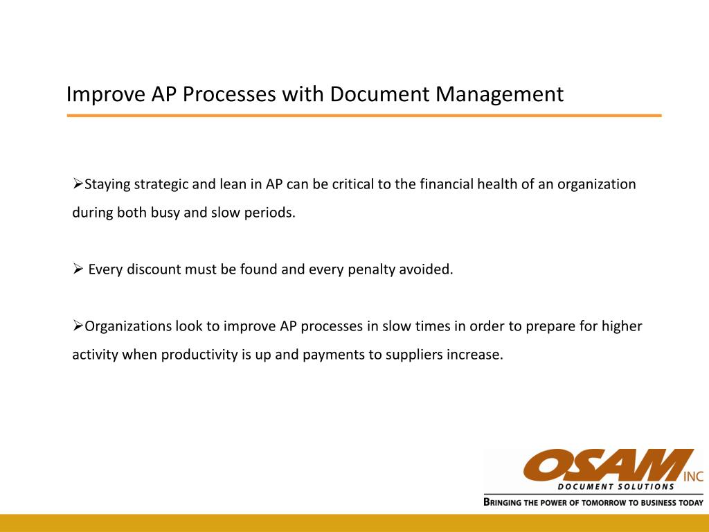 Improve AP Processes with Document Management