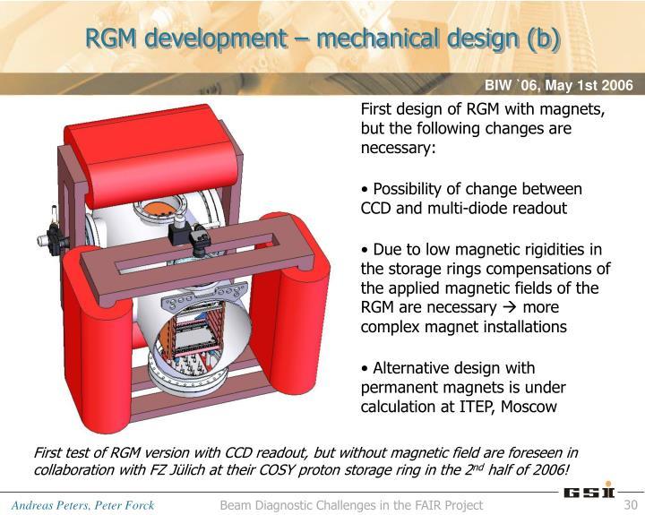 RGM development – mechanical design (b)