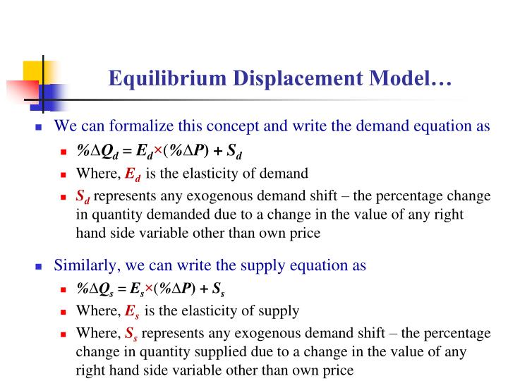 Equilibrium Displacement Model…