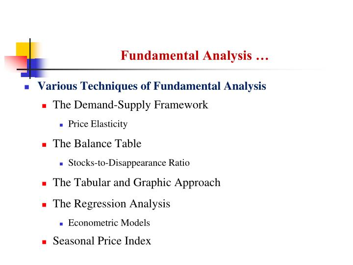 Fundamental Analysis …