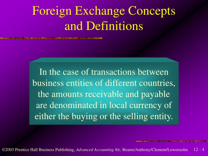 Foreign Exchange Concepts