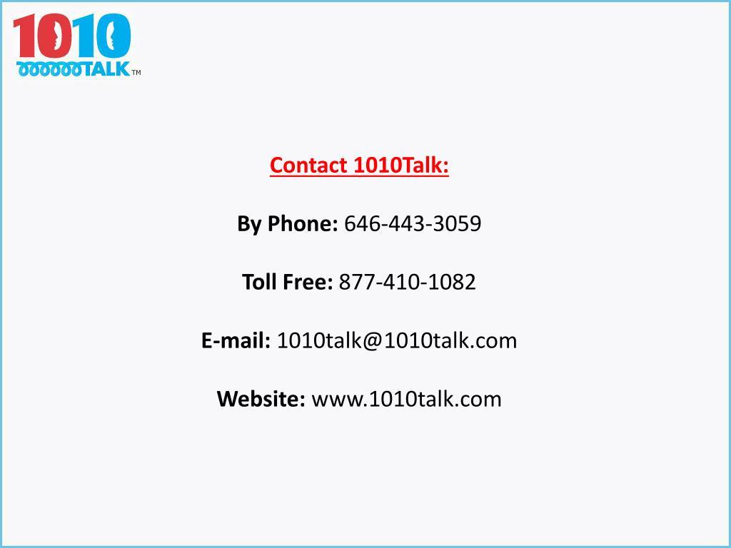 Contact 1010Talk:
