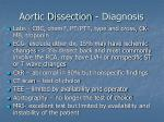 aortic dissection diagnosis