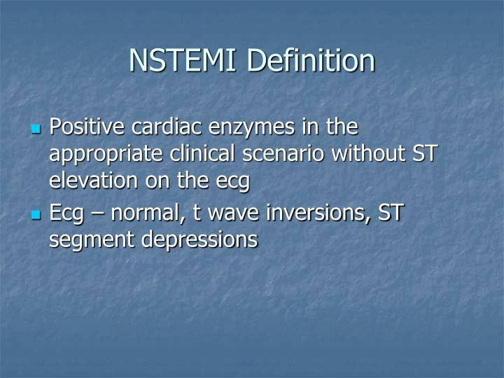 NSTEMI Definition