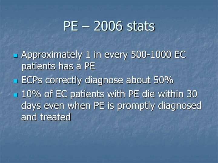 PE – 2006 stats