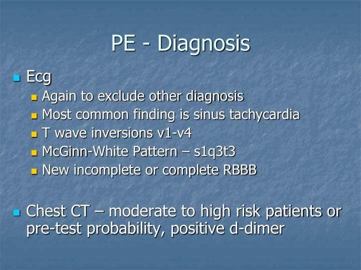 PE - Diagnosis